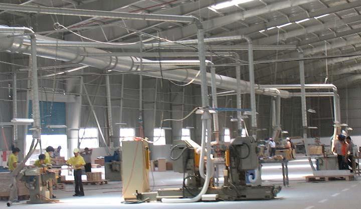 Tác hại của bụi và quy trình xử lý bụi của hệ thống hút bụi trong nhà máy